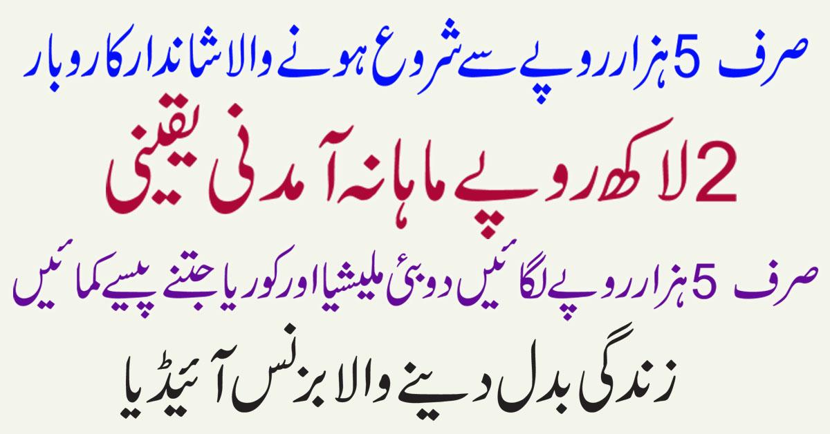 Village Business Ideas in Urdu