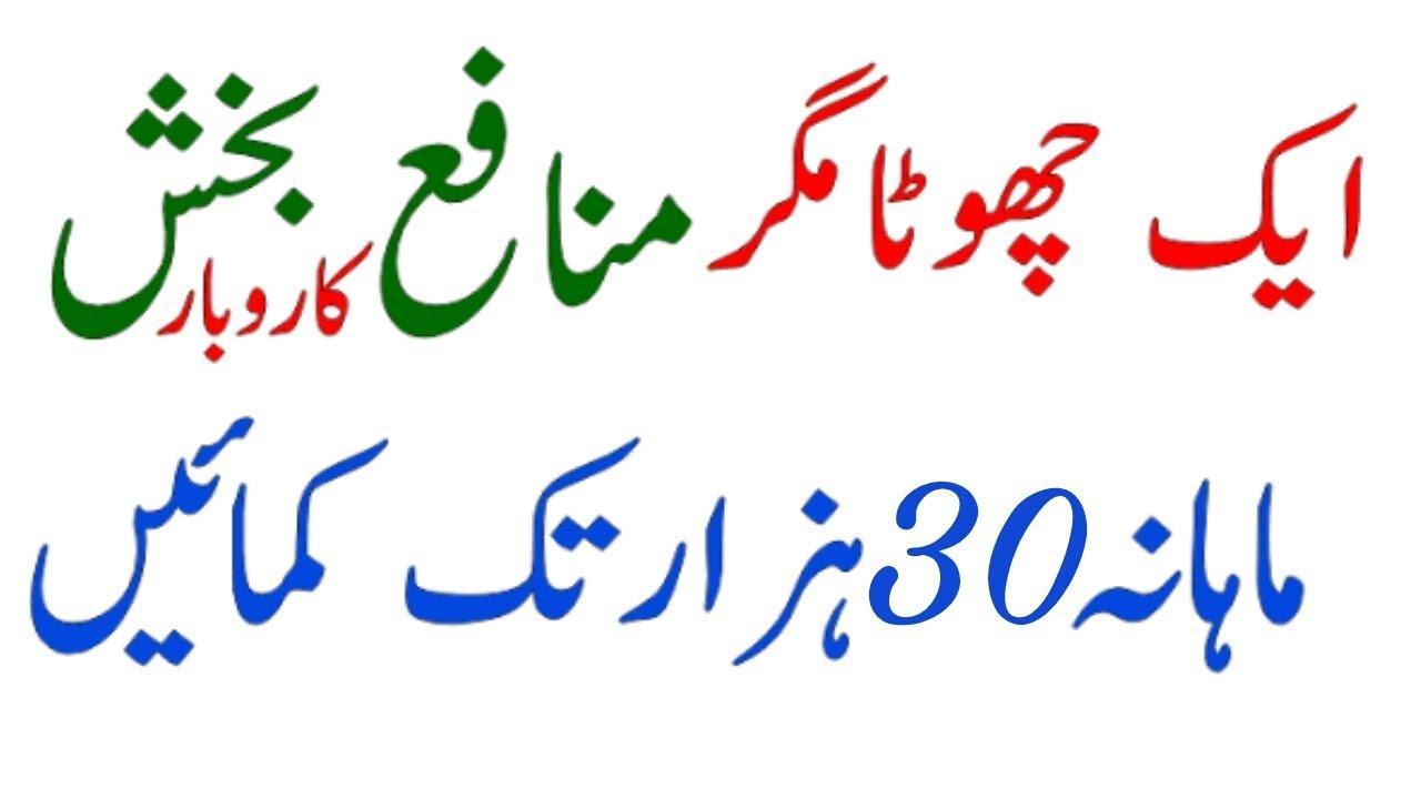 Small Business ideas in urdu