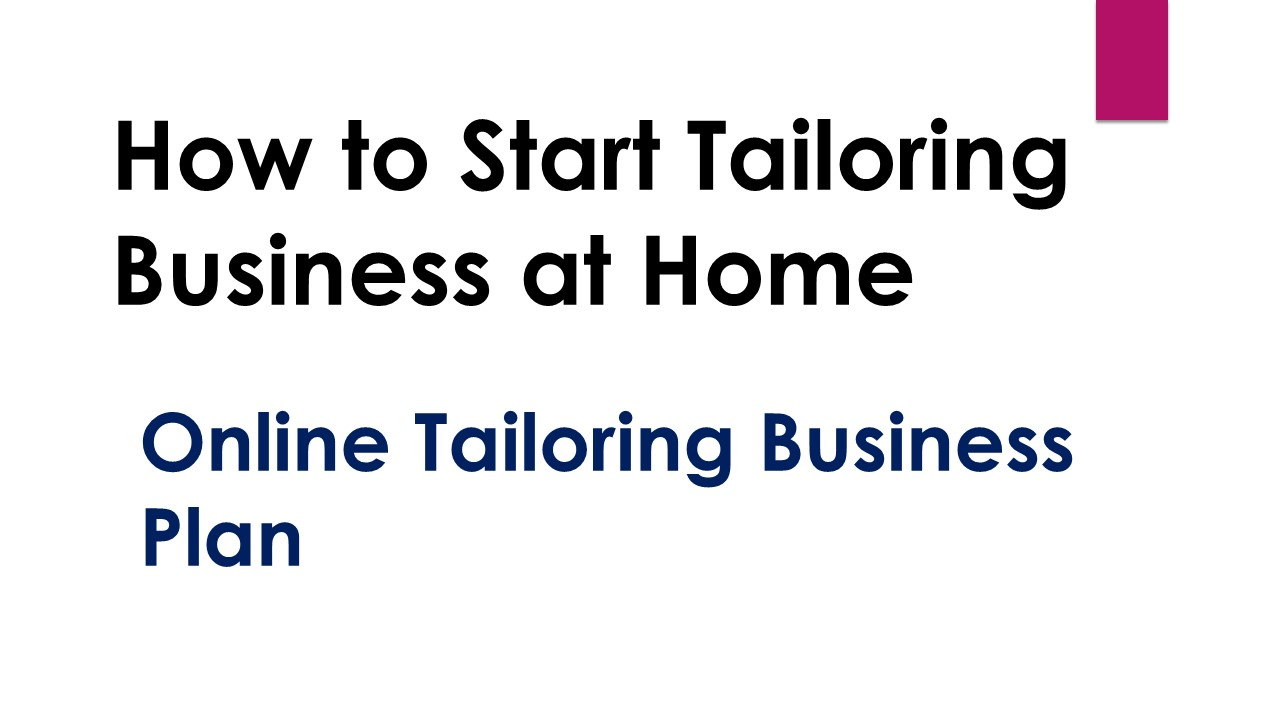 How to Start Tailoring Business at Home