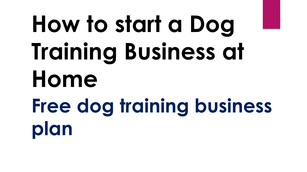 How to start a Dog Training Business at Home