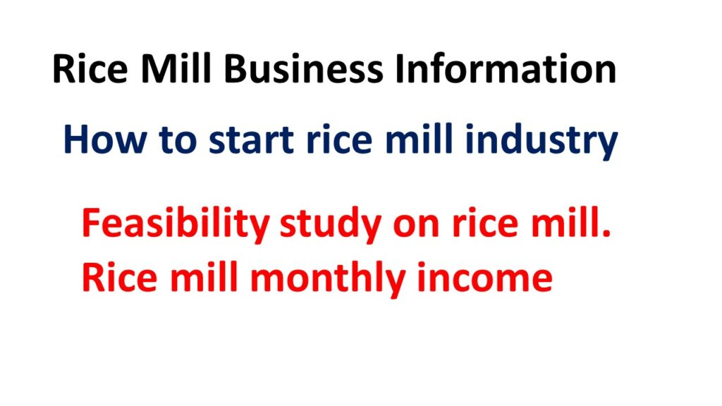 Rice Mill Business Information