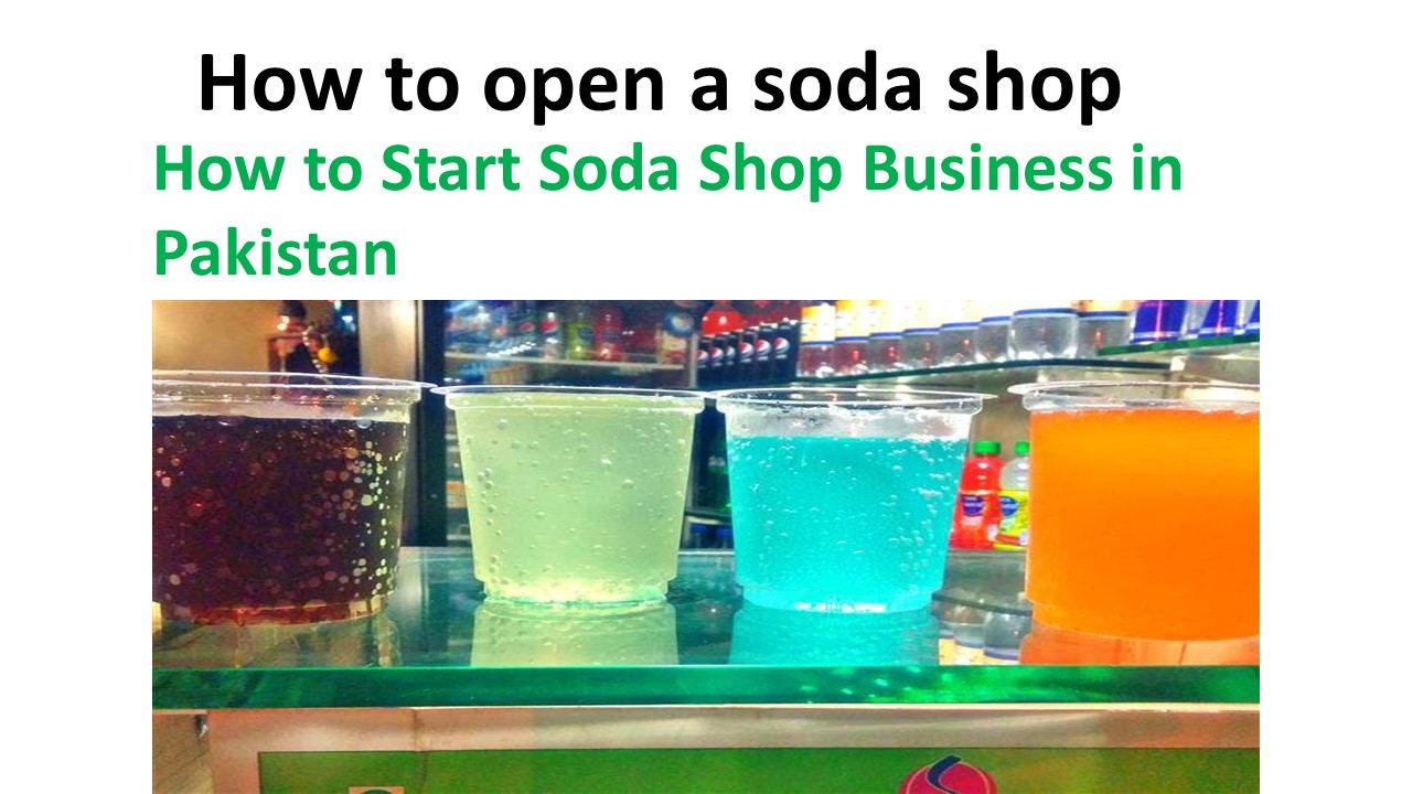 How to open a soda shop